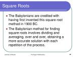 square roots37