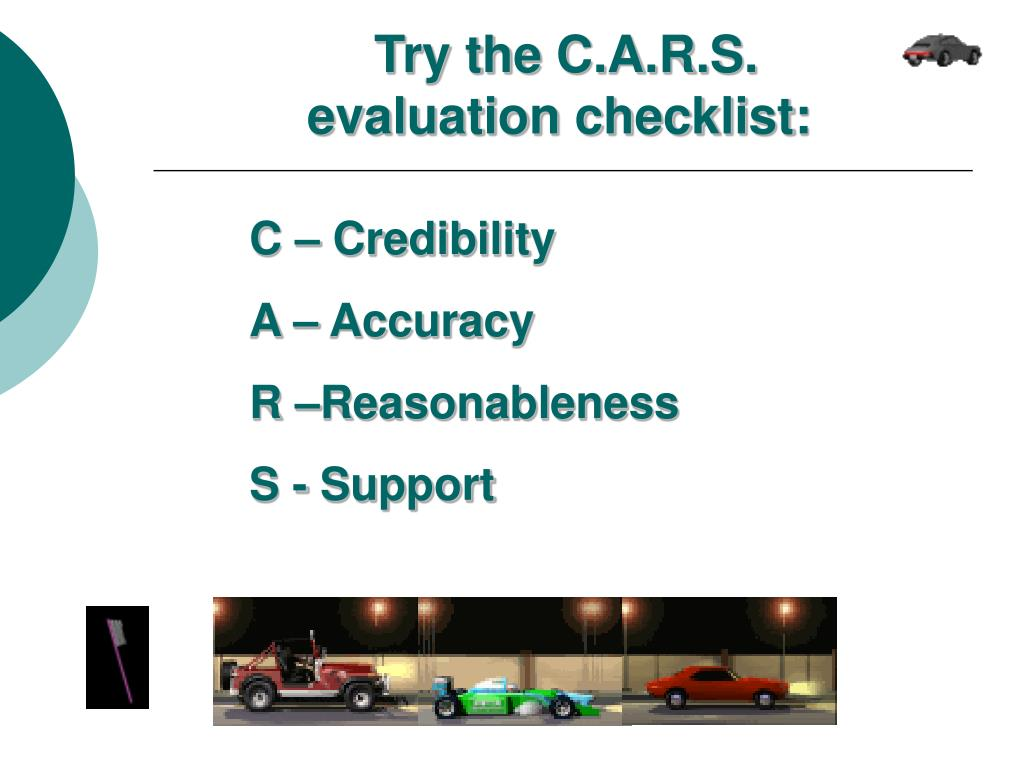 Try the C.A.R.S. evaluation checklist: