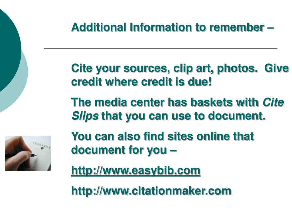 Additional Information to remember –