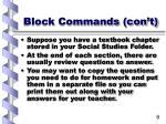 block commands con t6