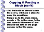 copying pasting a block con t