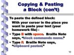 copying pasting a block con t10