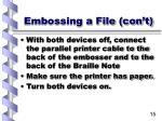 embossing a file con t