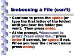 embossing a file con t17