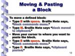 moving pasting a block