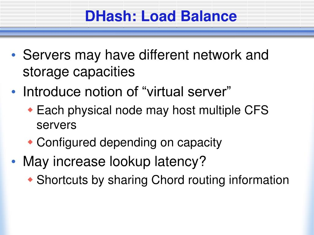 DHash: Load Balance