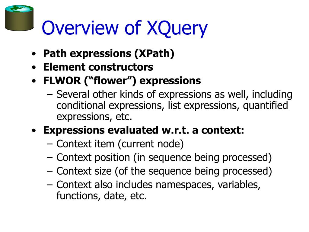 Overview of XQuery