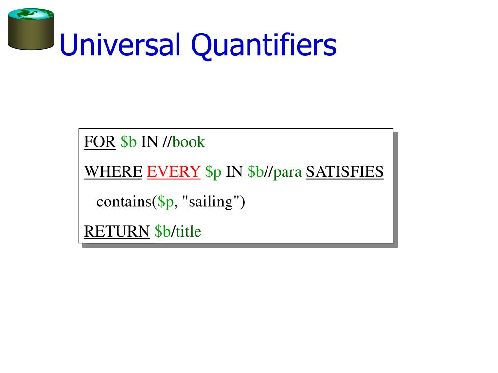 Universal Quantifiers