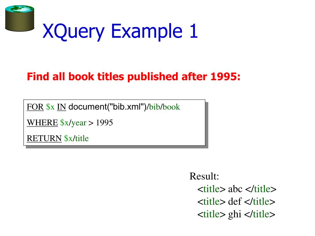 XQuery Example 1
