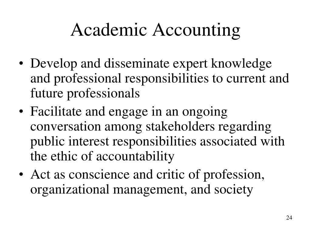 Academic Accounting