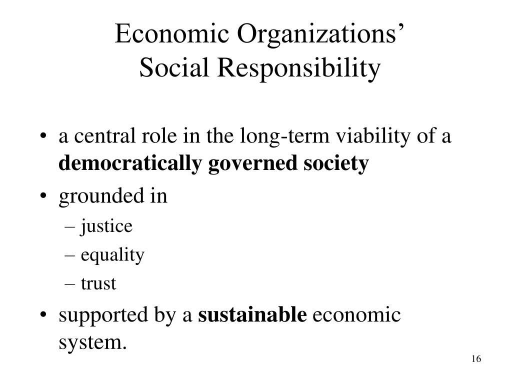 Economic Organizations'