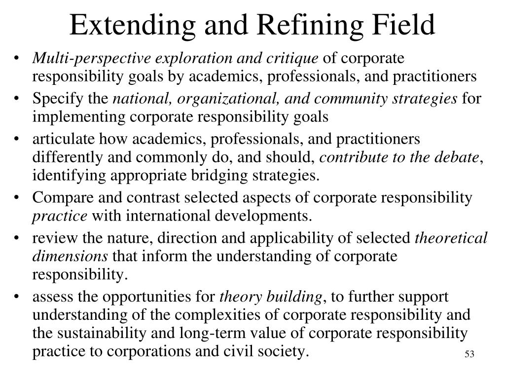 Extending and Refining Field