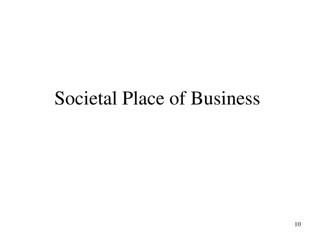 Societal Place of Business