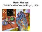henri matisse still life with oriental rugs 1906
