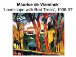 maurice de vlaminck landscape with red trees 1906 07