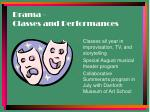 drama classes and performances