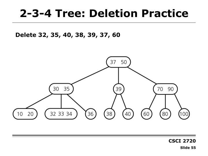 2-3-4 Tree: Deletion Practice