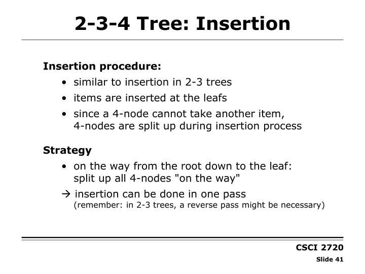 2-3-4 Tree: Insertion