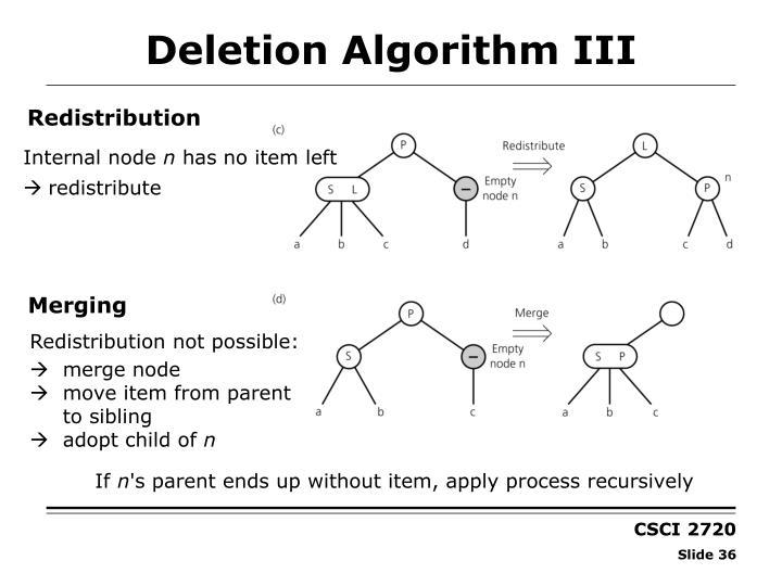 Deletion Algorithm III