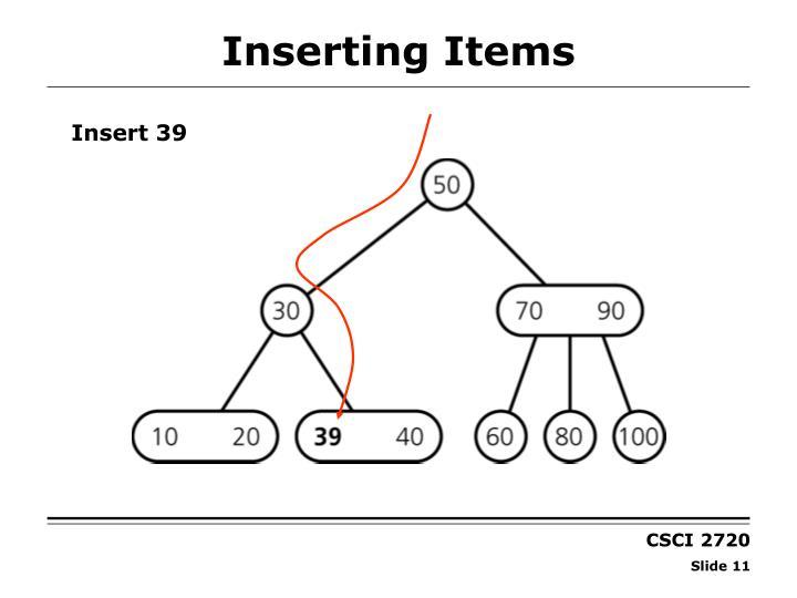 Inserting Items