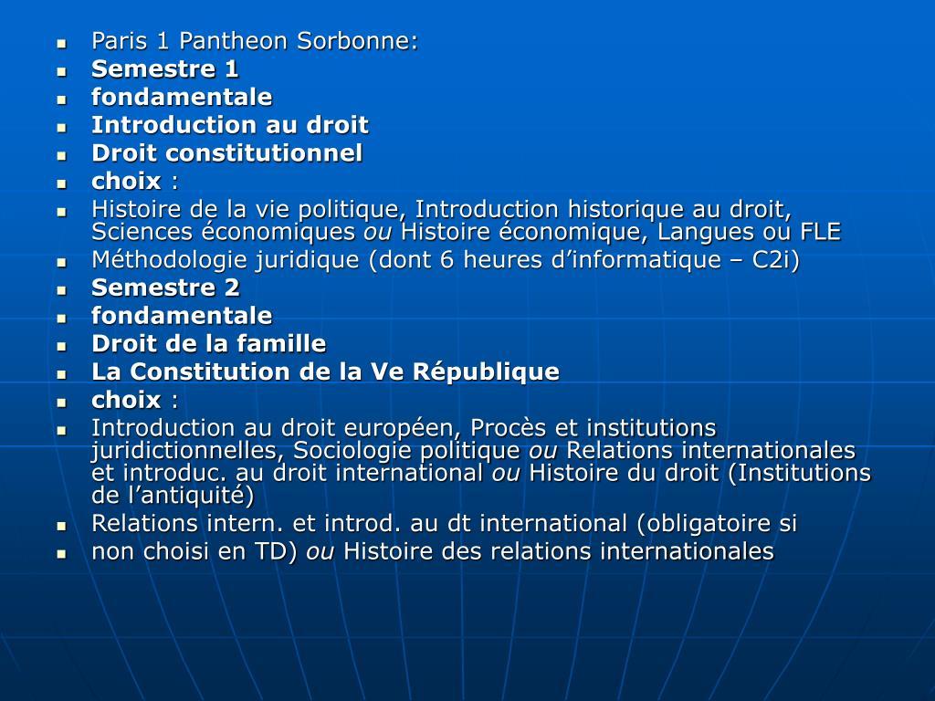 Paris 1 Pantheon Sorbonne: