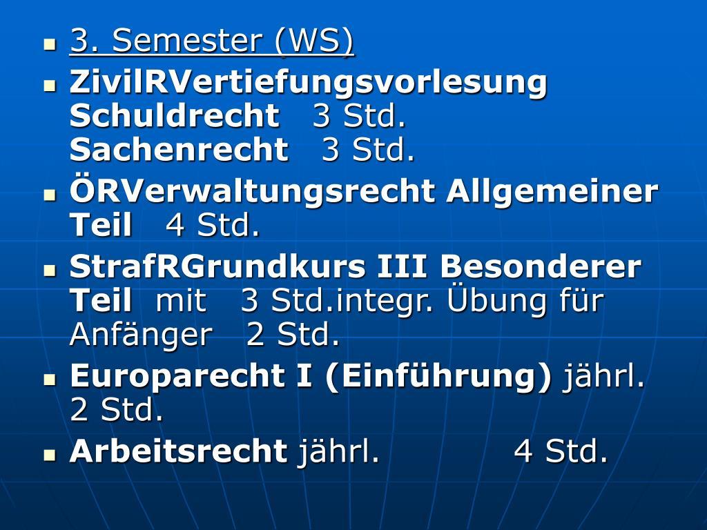 3. Semester (WS)