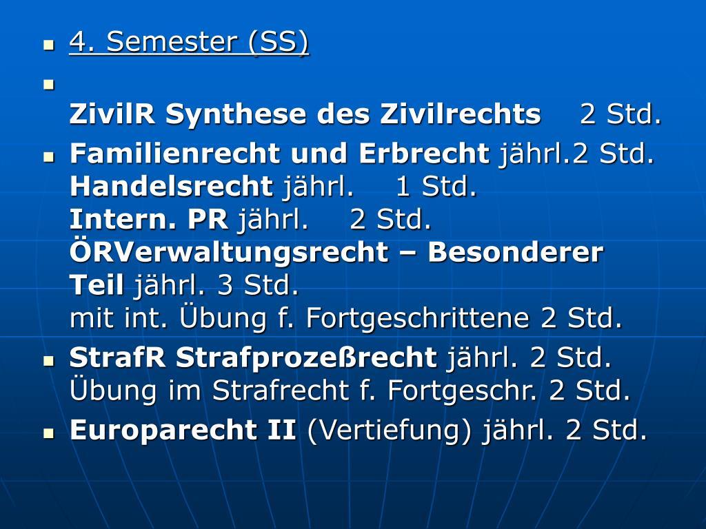 4. Semester (SS)