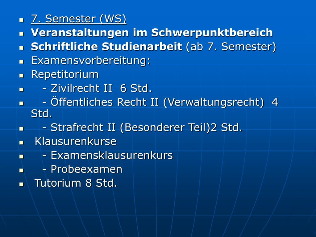 7. Semester (WS)