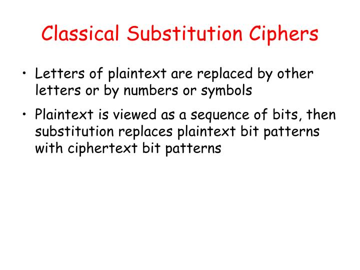Classical Substitution Ciphers
