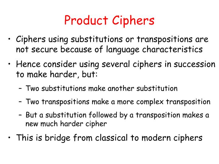Product Ciphers