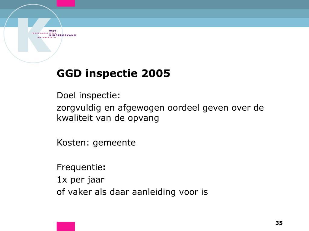 GGD inspectie 2005