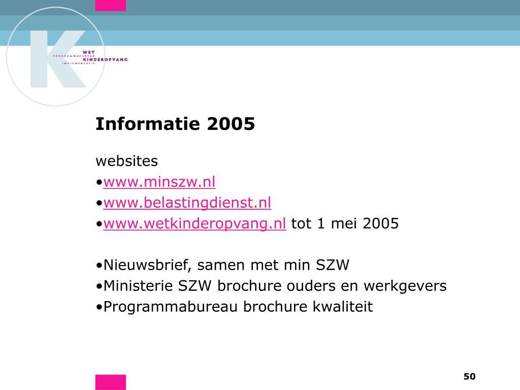 Informatie 2005
