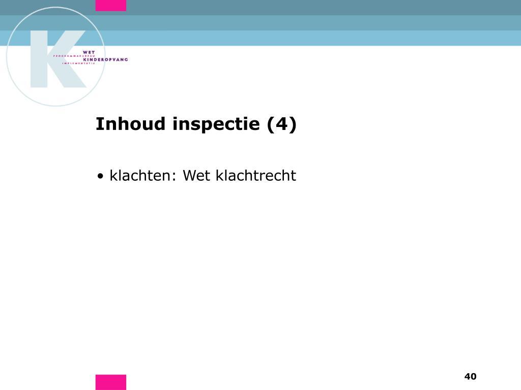 Inhoud inspectie (4)