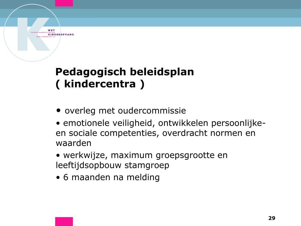 Pedagogisch beleidsplan