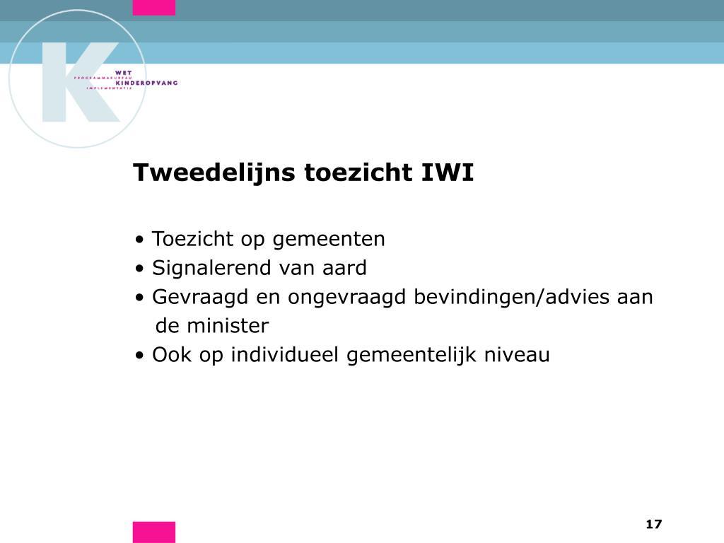 Tweedelijns toezicht IWI