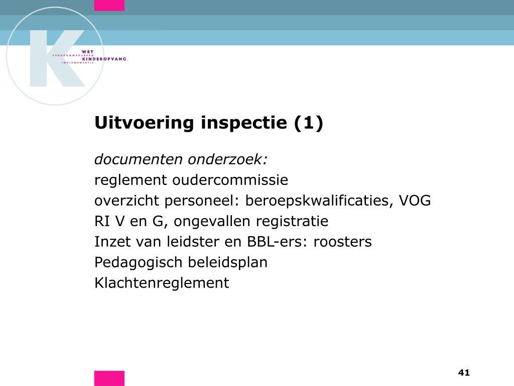 Uitvoering inspectie (1)