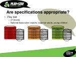 are specifications appropriate7