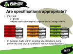 are specifications appropriate8