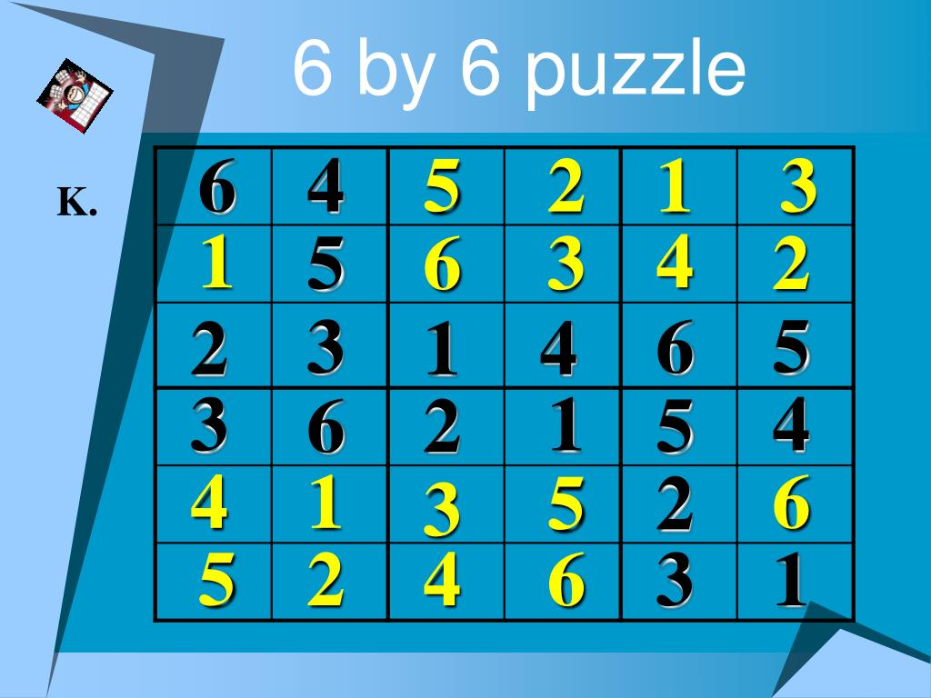 6 by 6 puzzle