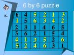 6 by 6 puzzle23