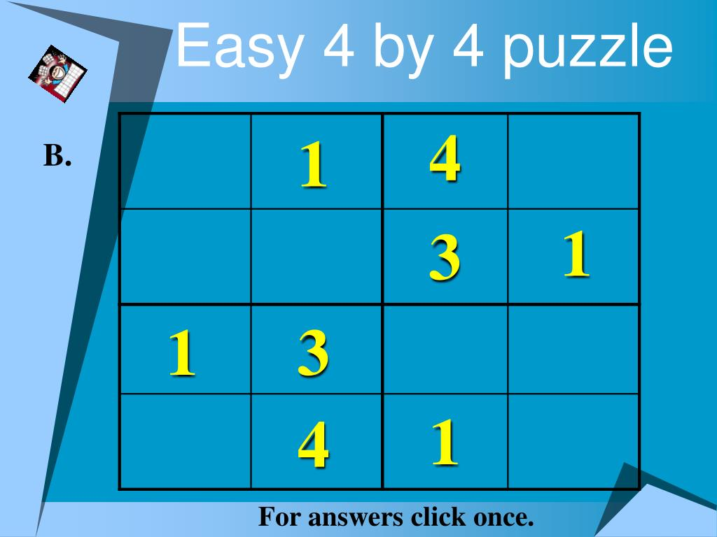 Easy 4 by 4 puzzle