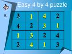 easy 4 by 4 puzzle5