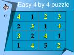 easy 4 by 4 puzzle7