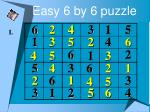 easy 6 by 6 puzzle19