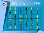 easy 6 by 6 puzzle21