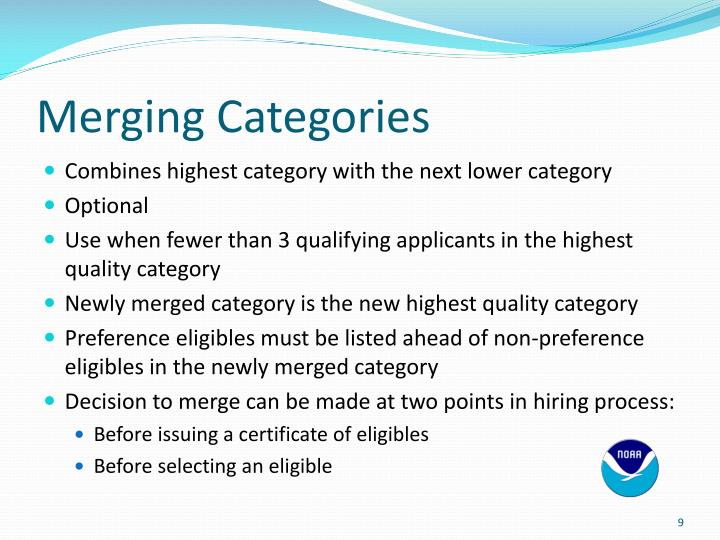 Merging Categories