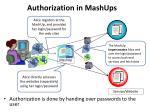 authorization in mashups