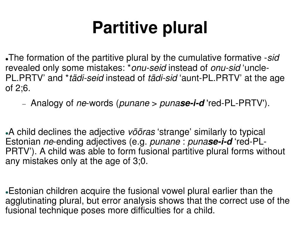 Partitive plural