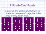 a punch card puzzle1