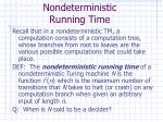 nondeterministic running time